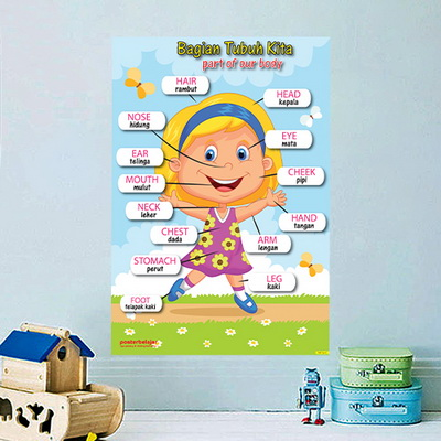 Mainan Anak Edukatif_Poster Pendidikan_Poster Belajar Anggota Tubuh 01