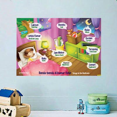 Mainan Anak Edukatif_Poster Pendidikan_Poster Belajar Benda Di dalam Kamar Tipe 02