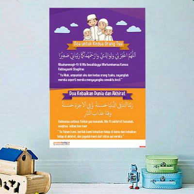 Mainan Anak Edukatif_Poster Pendidikan_Poster Belajar Doa Tipe 11