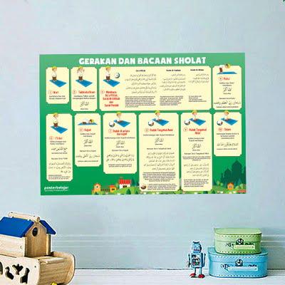 Mainan Anak Edukatif_Poster Pendidikan_Poster Belajar Sholat Tipe 01