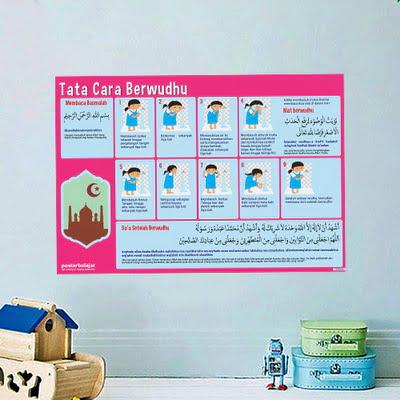 Mainan Anak Edukatif_Poster Pendidikan_Poster Belajar Wudhu Tipe 02