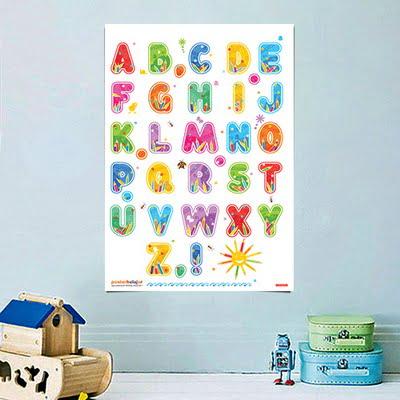 Poster Belajar alfabet tipe 05