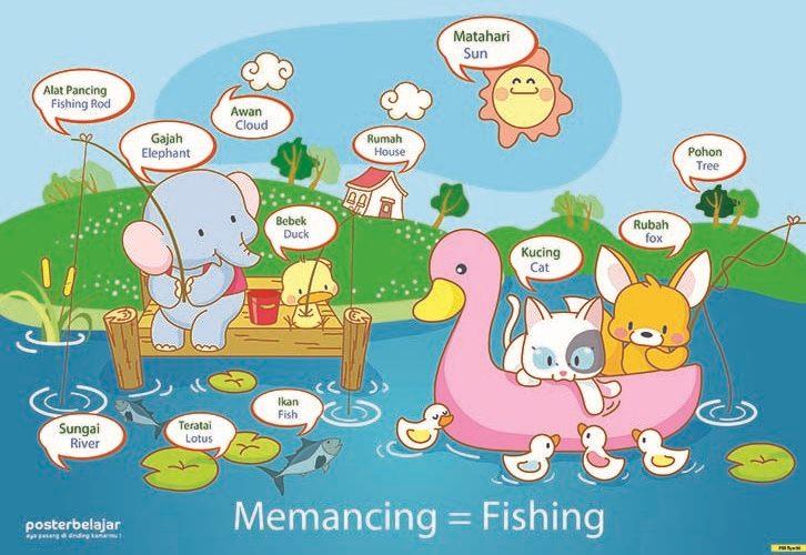 Poster Belajar Binatang Tipe 06 Mainan Anak Edukatif