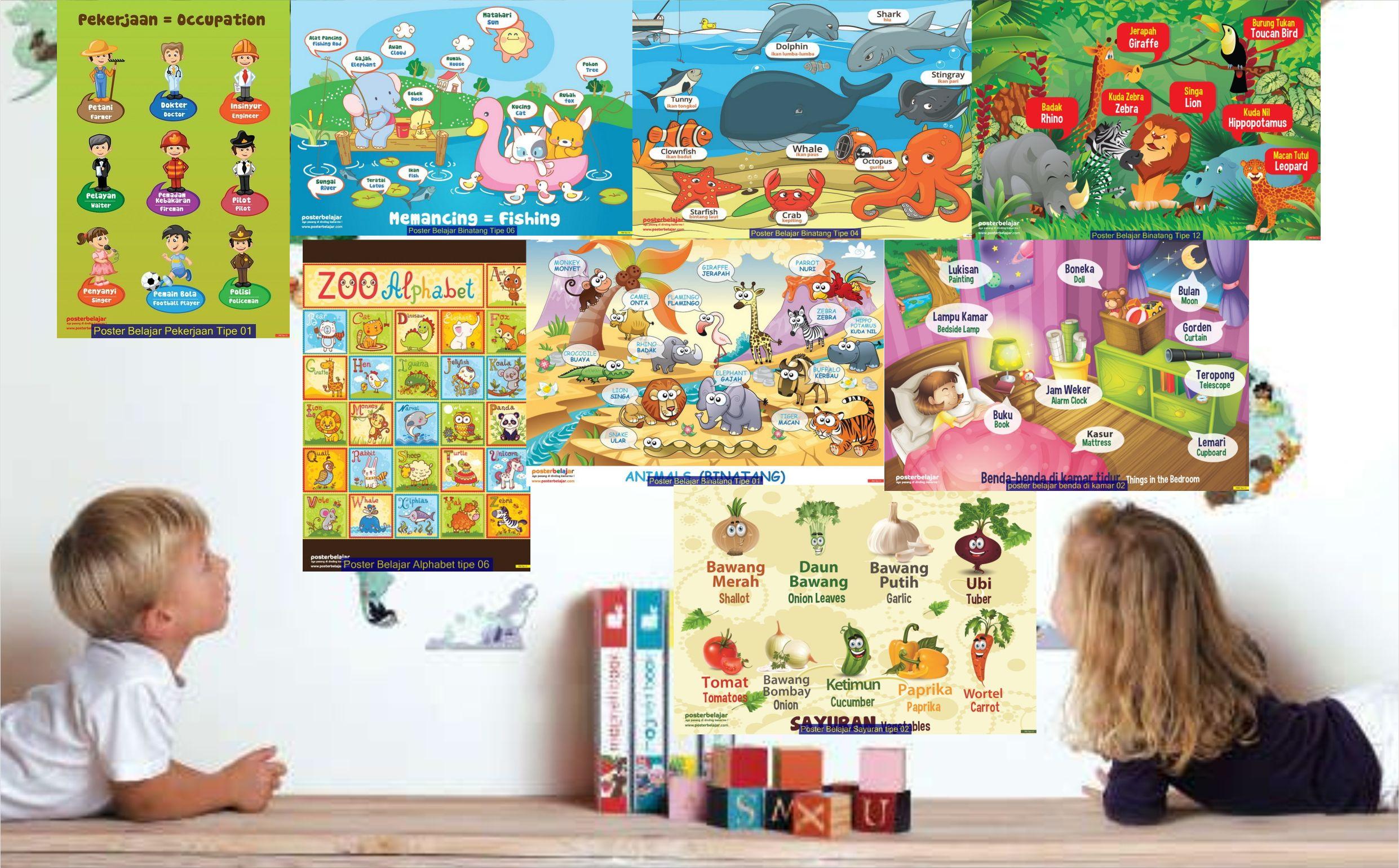 jual mainan anak edukatif poster pendidikan poster belajar