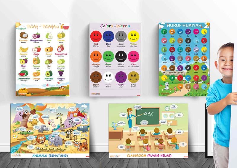 mainan anak edukatif poster pendidikan poster belajar