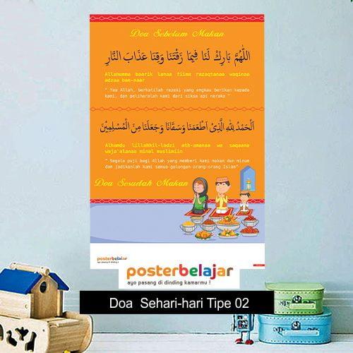 Doa Tipe 2 poster belajar mainan anak edukatif edukasi bahasa inggris alat peraga