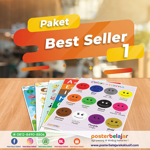 paket poster belajar poster pendidikan best seller 1