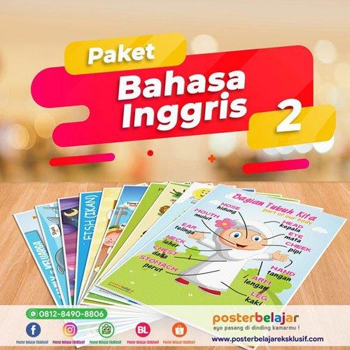 poster belajar 10 paket bahasa inggris 2
