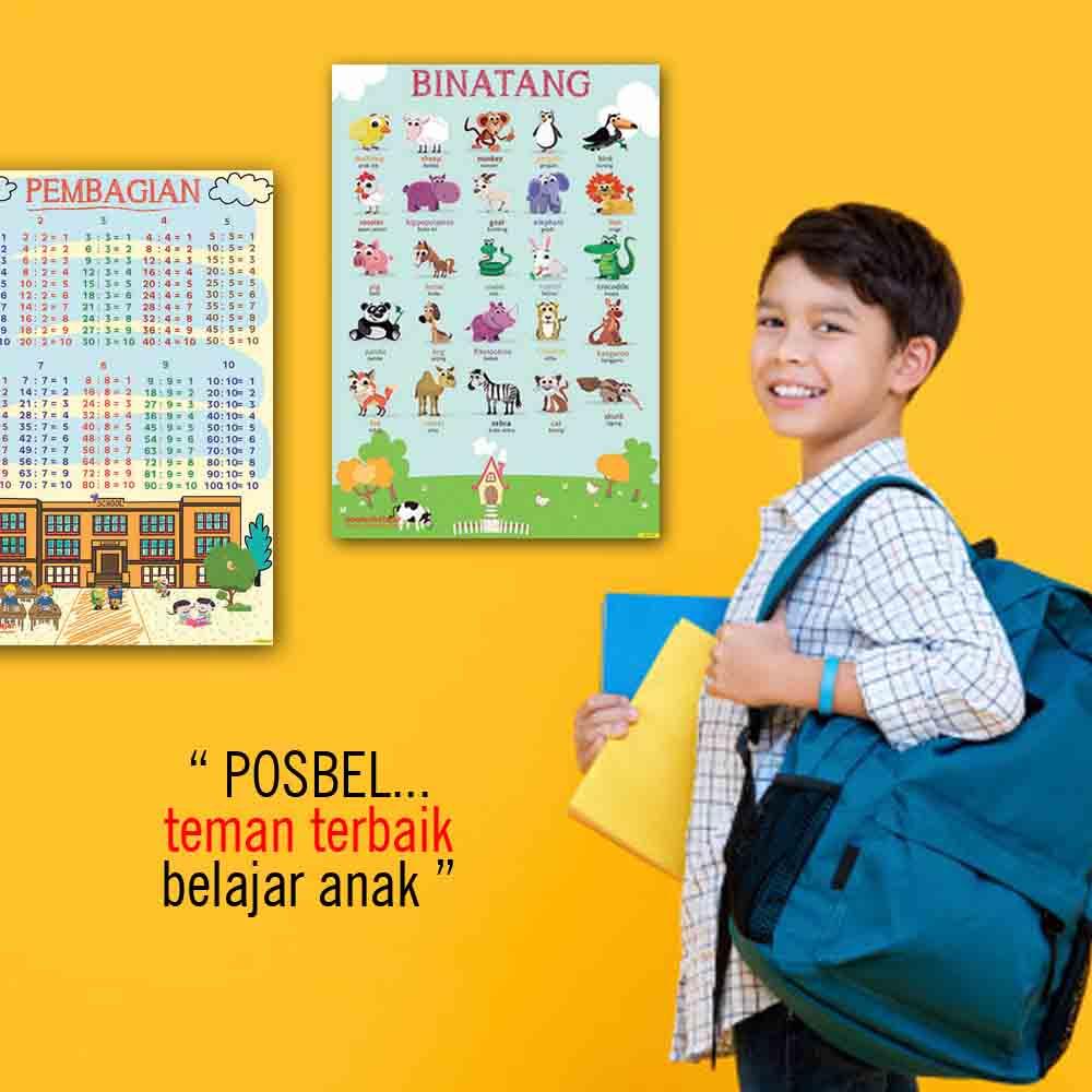 kenapa 1 POSBEL poster belajar pendidikan mainan anak edukatif edukasi