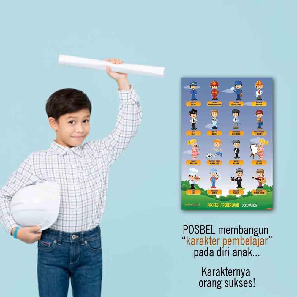 kenapa 2 POSBEL poster belajar pendidikan mainan anak edukatif edukasi