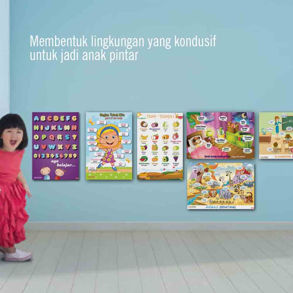 kenapa 4 POSBEL poster belajar pendidikan mainan anak edukatif edukasi