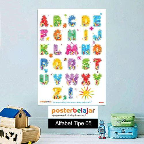 POSBEL Alfabet tipe 5 poster belajar mainan anak edukatif edukasi bahasa inggris alat peraga pendidikan