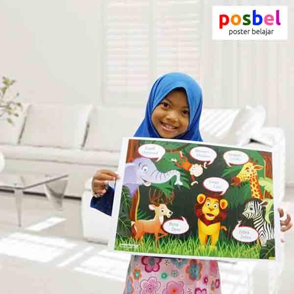 a4 POSBEL poster belajar mainan edukasi edukatif alat peraga pendidikan bahasa inggris anak