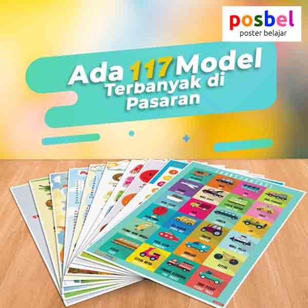 a6 POSBEL poster belajar mainan edukasi edukatif alat peraga pendidikan bahasa inggris anak