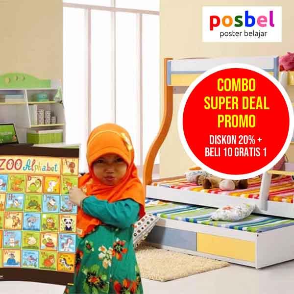 low 2 combo super deal posbel poster belajar mainan edukasi edukatif alat peraga pendidikan anak
