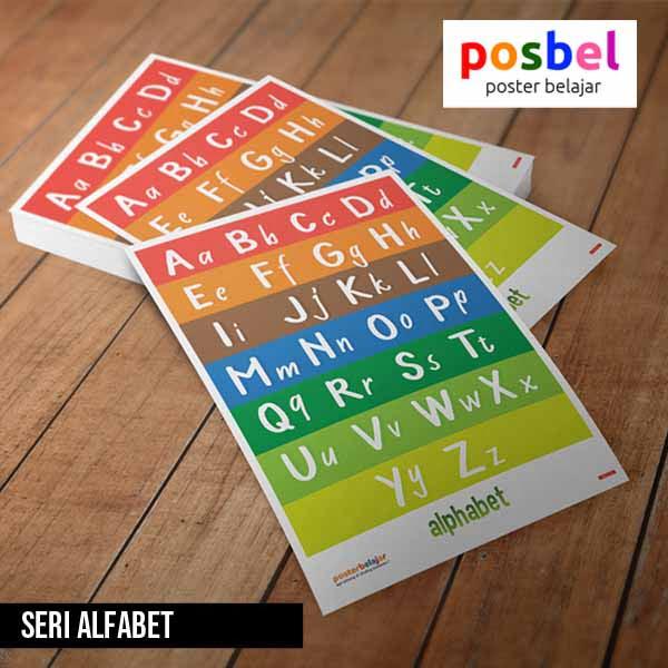 seri alfabet posbel poster belajar mainan edukasi edukatif alat peraga pendidikan anak