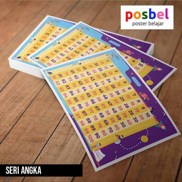seri angka posbel poster belajar mainan edukasi edukatif alat peraga pendidikan anak