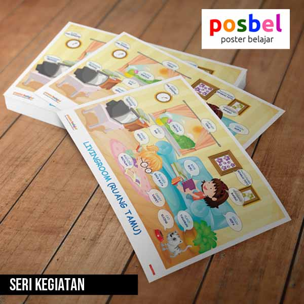 seri kegiatan posbel poster belajar mainan edukasi edukatif alat peraga pendidikan anak