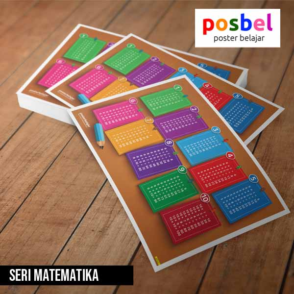 seri matematika posbel poster belajar mainan edukasi edukatif alat peraga pendidikan anak