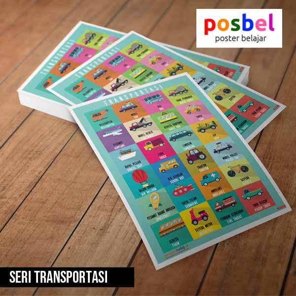 seri transportasi posbel poster belajar mainan edukasi edukatif alat peraga pendidikan anak