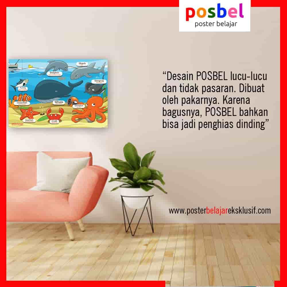 2 a binatang 4 iklan dinding FB POSBEL poster belajar mainan edukasi edukatif dinding pendidikan anak perempuan laki laki PAUD TK SD-min