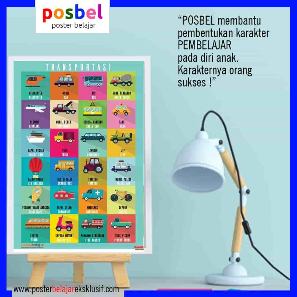 4 a transportasi 4 iklan dinding FB POSBEL poster belajar mainan edukasi edukatif dinding pendidikan anak perempuan laki laki PAUD TK SD-min