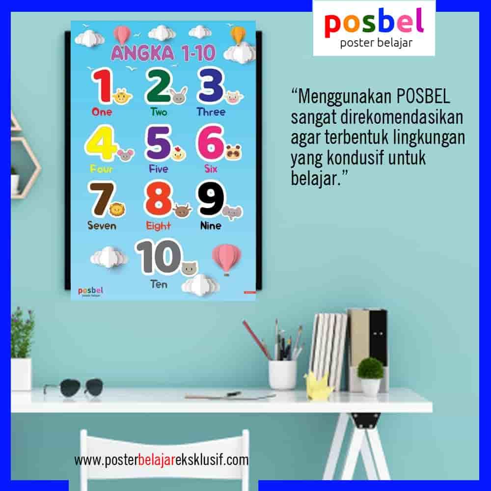9 a angka 5 iklan dinding FB POSBEL poster belajar mainan edukasi edukatif dinding pendidikan anak perempuan laki laki PAUD TK SD-min