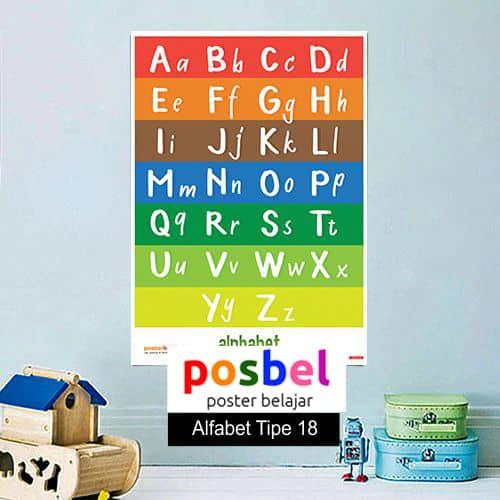 Alfabet tipe 18 poster belajar mainan anak edukatif edukasi bahasa inggris alat peraga -min