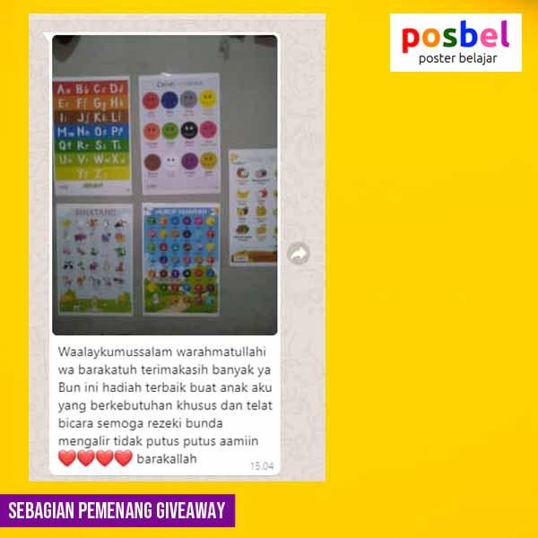 6 pemenang giveaway mainan poster edukasi edukatif anak laki laki perempuan alat peraga pendidikan posbel