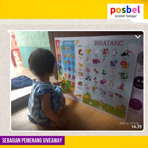 8 pemenang giveaway mainan poster edukasi edukatif anak laki laki perempuan alat peraga pendidikan posbel
