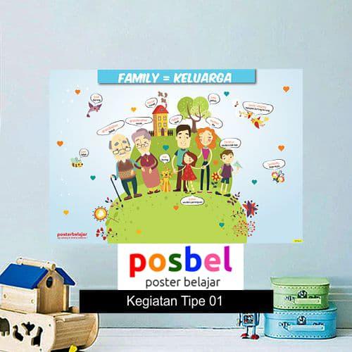Kegiatan Tipe 1 poster belajar mainan anak edukatif edukasi bahasa inggris alat peraga-min
