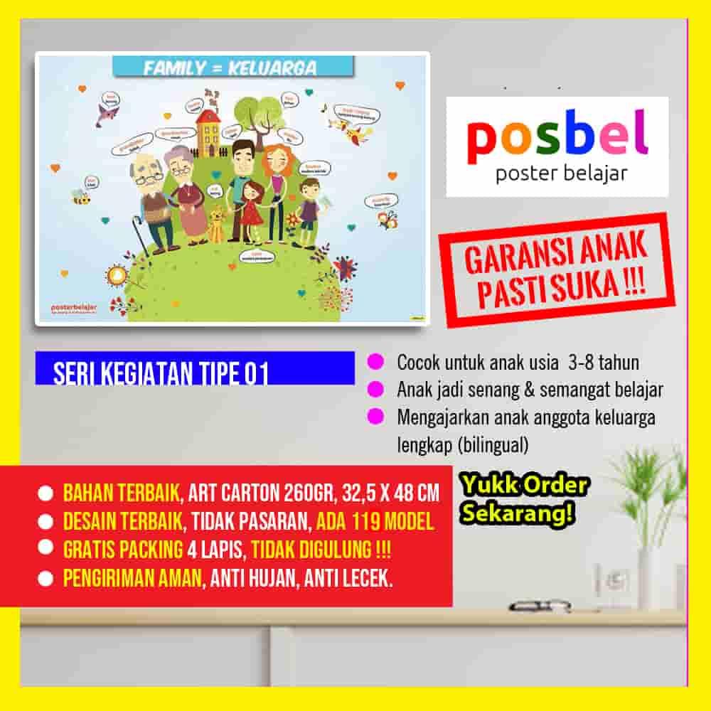 kegiatan 1 portrait POSBEL poster belajar mainan edukasi edukatif dinding pendidikan anak laki laki perempuan PAUD TK SD keluarga-min