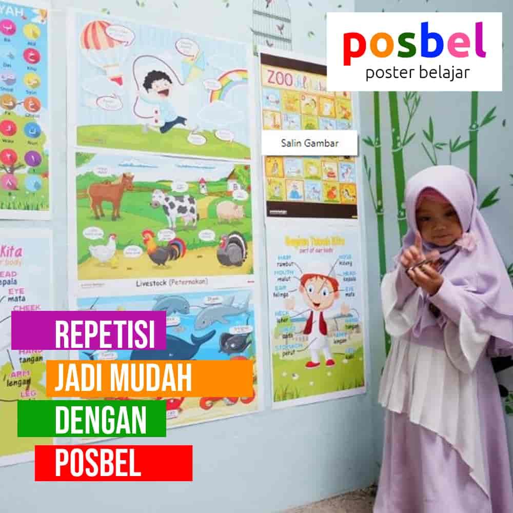 bagus 1 posbel mainan poster buku edukasi edukatif anak laki laki perempuan PAUD TK SD muslim alat peraga pendidikan-min
