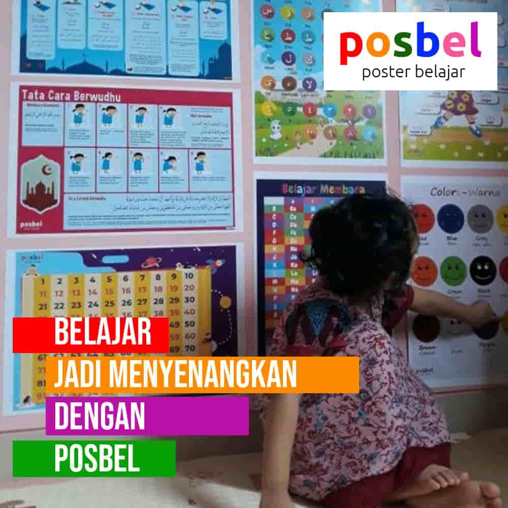 bagus 2 posbel mainan poster buku edukasi edukatif anak laki laki perempuan PAUD TK SD muslim alat peraga pendidikan-min
