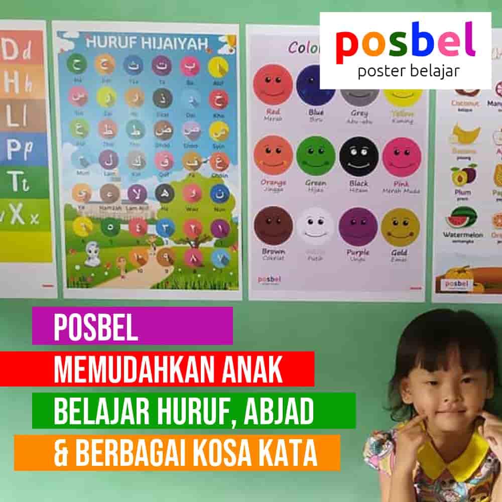 bagus 3 posbel mainan poster buku edukasi edukatif anak laki laki perempuan PAUD TK SD muslim alat peraga pendidikan-min