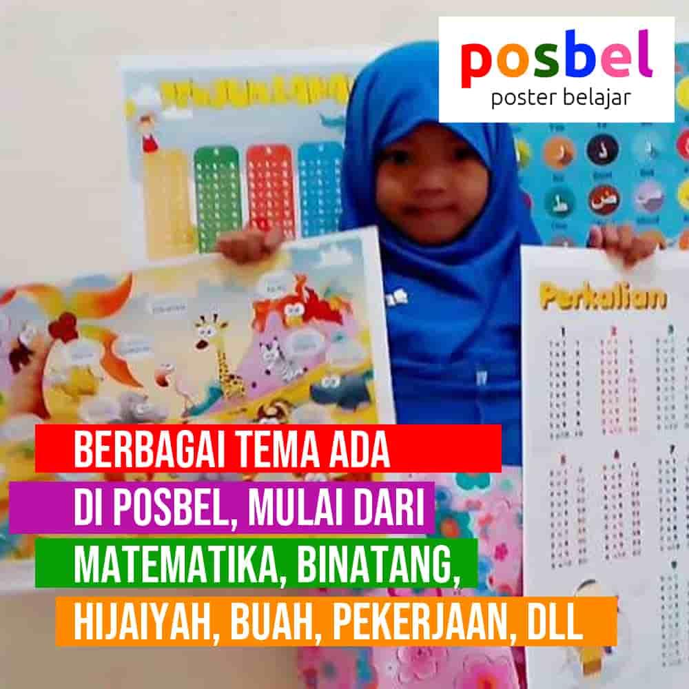 bagus 9 posbel mainan poster buku edukasi edukatif anak laki laki perempuan PAUD TK SD muslim alat peraga pendidikan-min