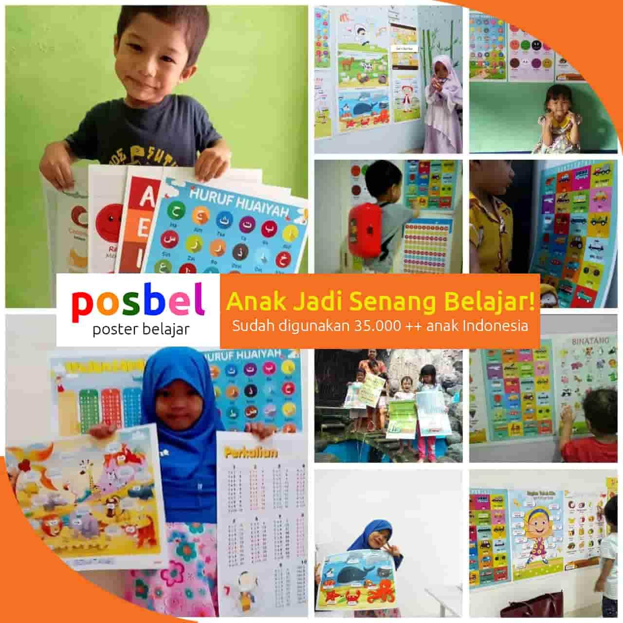kolase mainan anak poster edukasi edukatif belajar perempuan laki alat peraga pendidikan