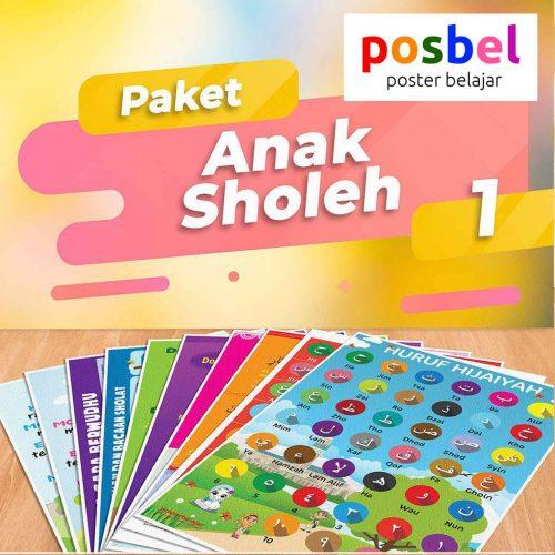 POSBEL paket 1 Anak Sholeh isi 10 poster belajar mainan anak edukatif edukasi bahasa inggris alat peraga pendidikan